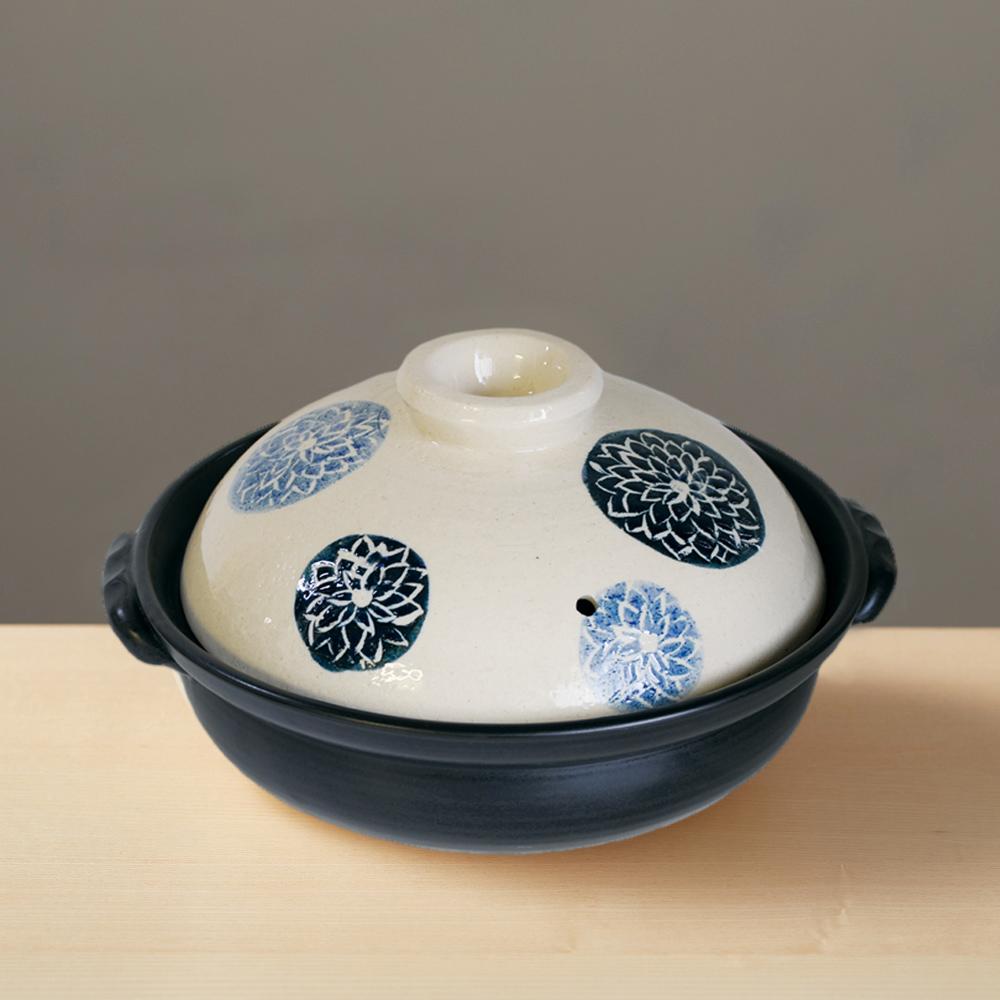 日本萬古燒|輕量土鍋8號 - 藍染(1.6L)