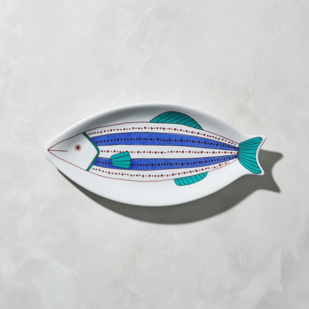 日本晴九谷燒|魚大盤 - 點線紋