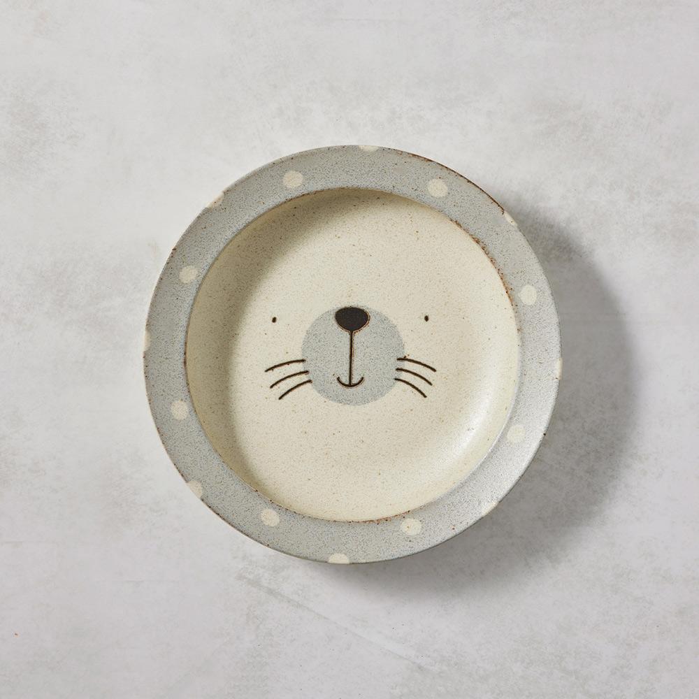日本AWASAKA美濃燒|憨憨海豹深盤 (22.5cm)