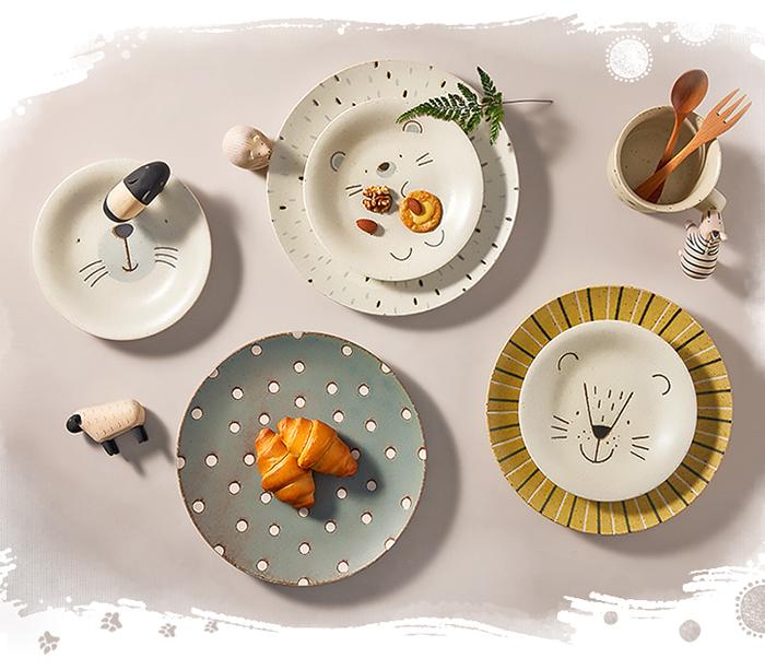 (複製)日本AWASAKA美濃燒 動物派對深盤 - 禮盒組(3件式) - 22.5cm