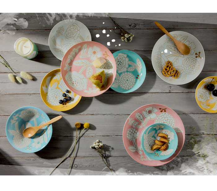 (複製)日本小倉陶器|編織小花盤禮盒組(5件式) - 10.2cm