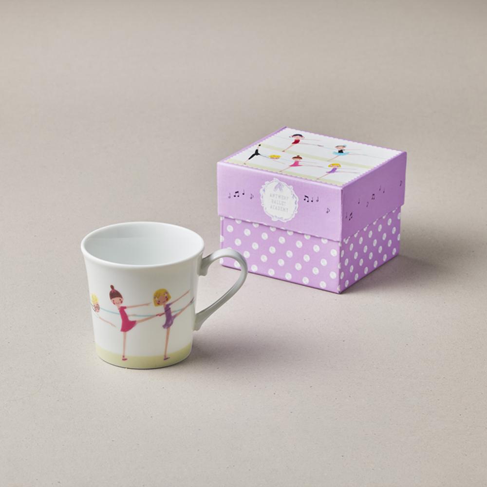 日本小倉陶器|芭蕾舞精裝馬克杯 - 來伸展 (300ml)