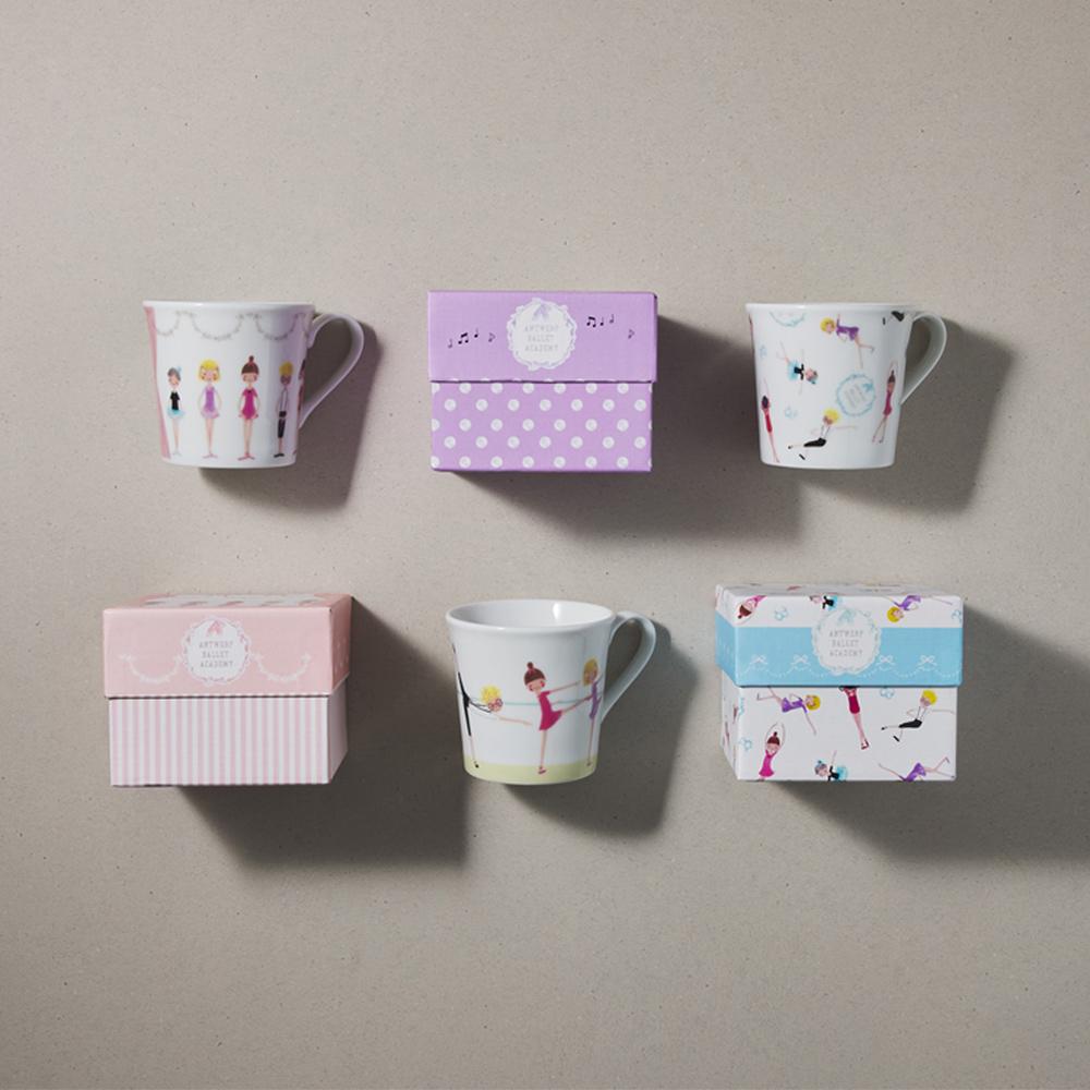 日本小倉陶器|芭蕾舞精裝馬克杯 - 對杯組 (任選 2件組) - 300ml