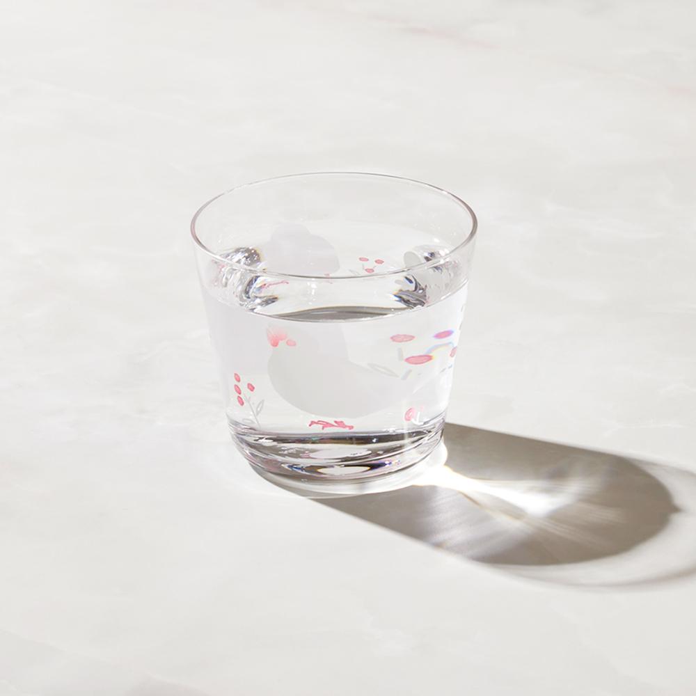 日本富硝子|變色自由杯 - 幸福白文鳥 (220ml)