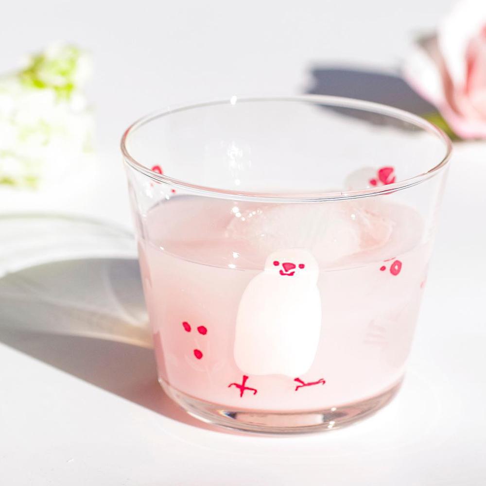 日本富硝子|變色自由杯 - 幸福白文鳥 - 雙件組 (220ml)