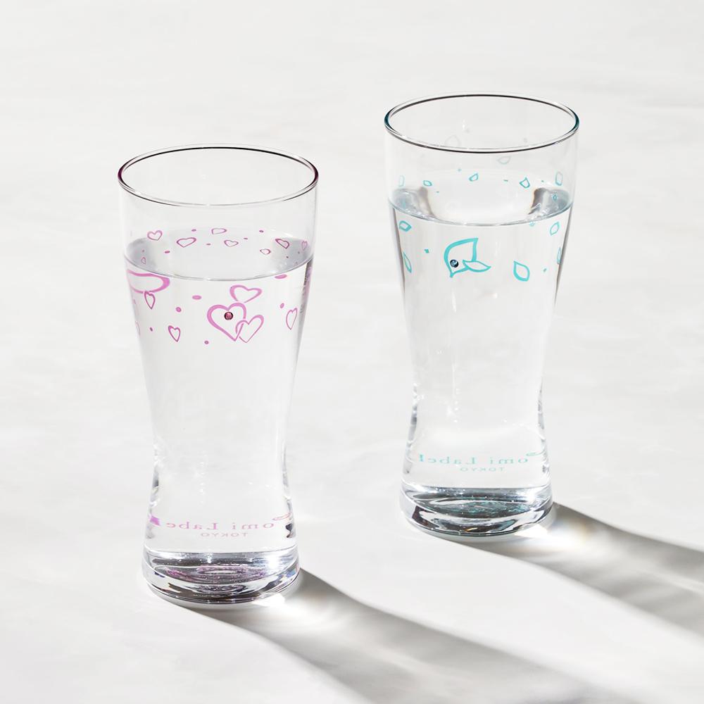 日本富硝子|變色水鑽啤酒杯 - 遇見幸福對杯組 (2件式) - 禮盒組 (310ml)