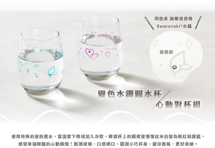 (複製)日本富硝子|變色水鑽啤酒杯 - 遇見幸福對杯組 (2件式)