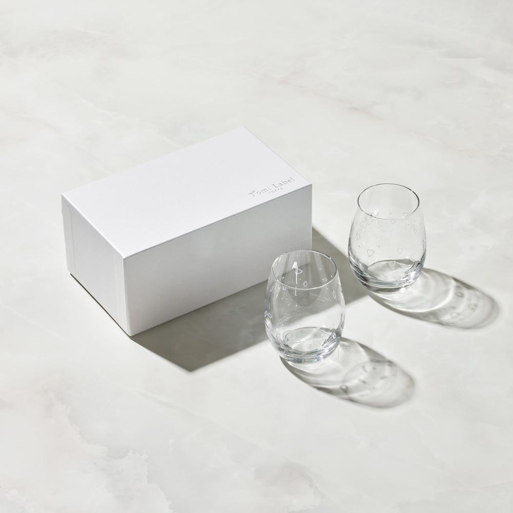 日本富硝子|變色水鑽圓水杯 - 心動對杯組 (2件式) - 禮盒組 (240ml)