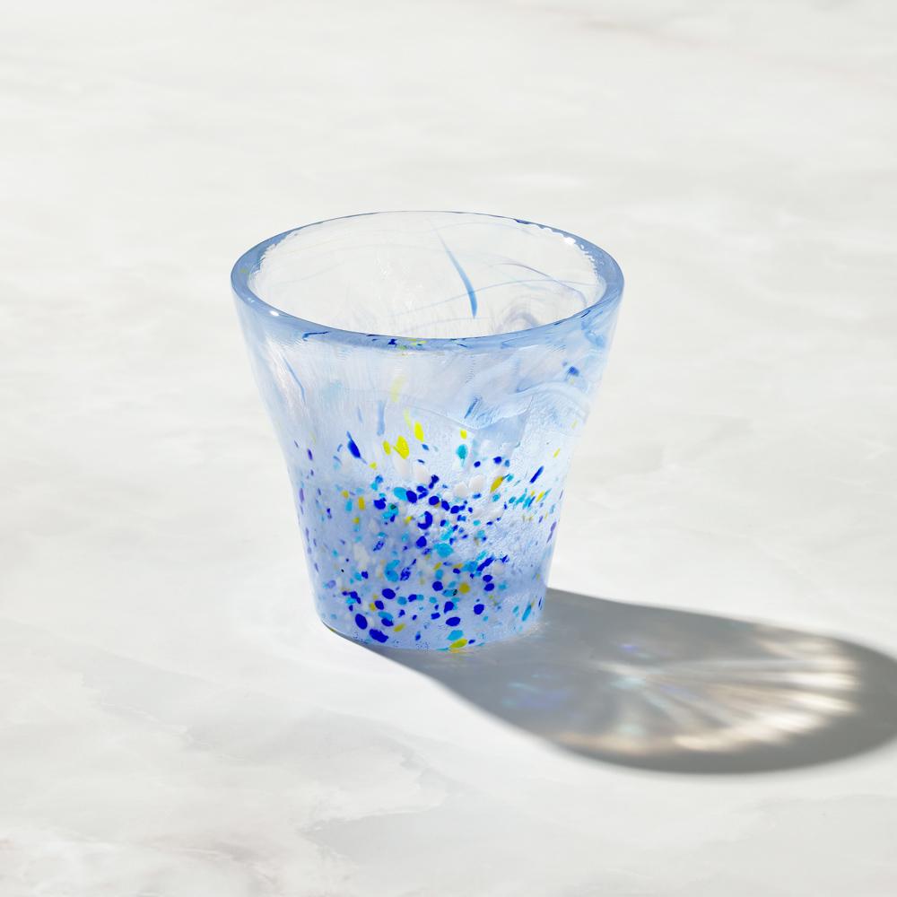 日本富硝子|手作浮世自由杯 - 江戶藍 (170ml)