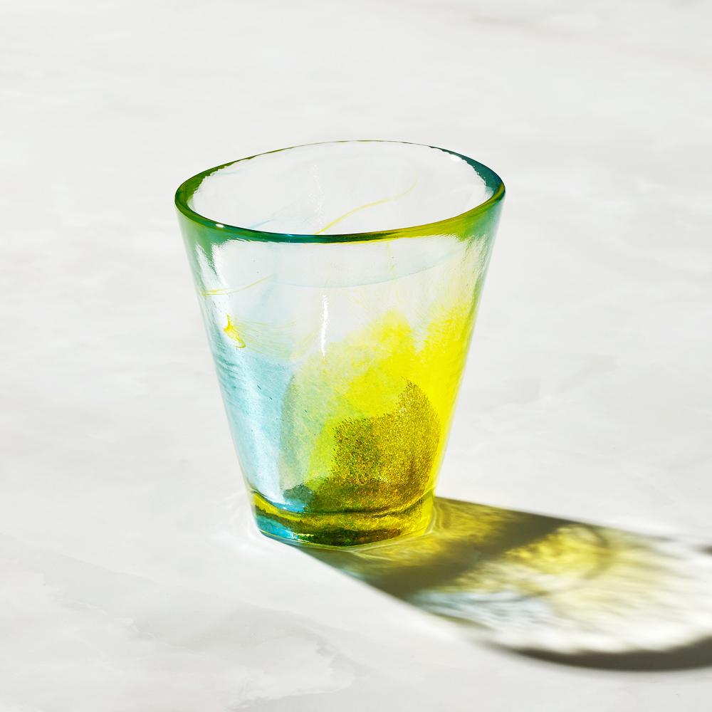 日本富硝子|手作夏日六角冰晶杯 - 檸檬蘇打 (170ml)