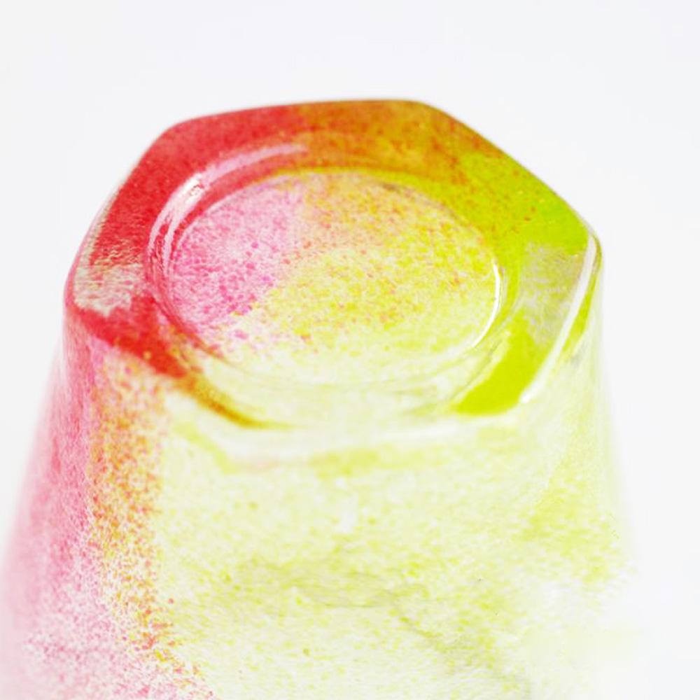 日本富硝子|手作夏日六角冰晶杯 - 蘋果糖 (170ml)