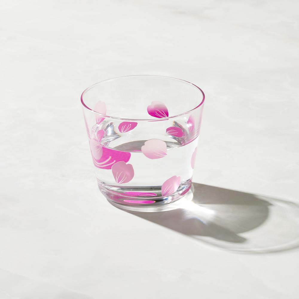 日本富硝子|變色自由杯 - 吉野櫻花雨 (220ml)