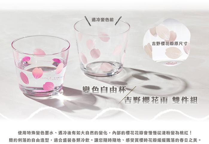 (複製)日本富硝子 變色自由杯 - 吉野櫻花雨 (220ml)
