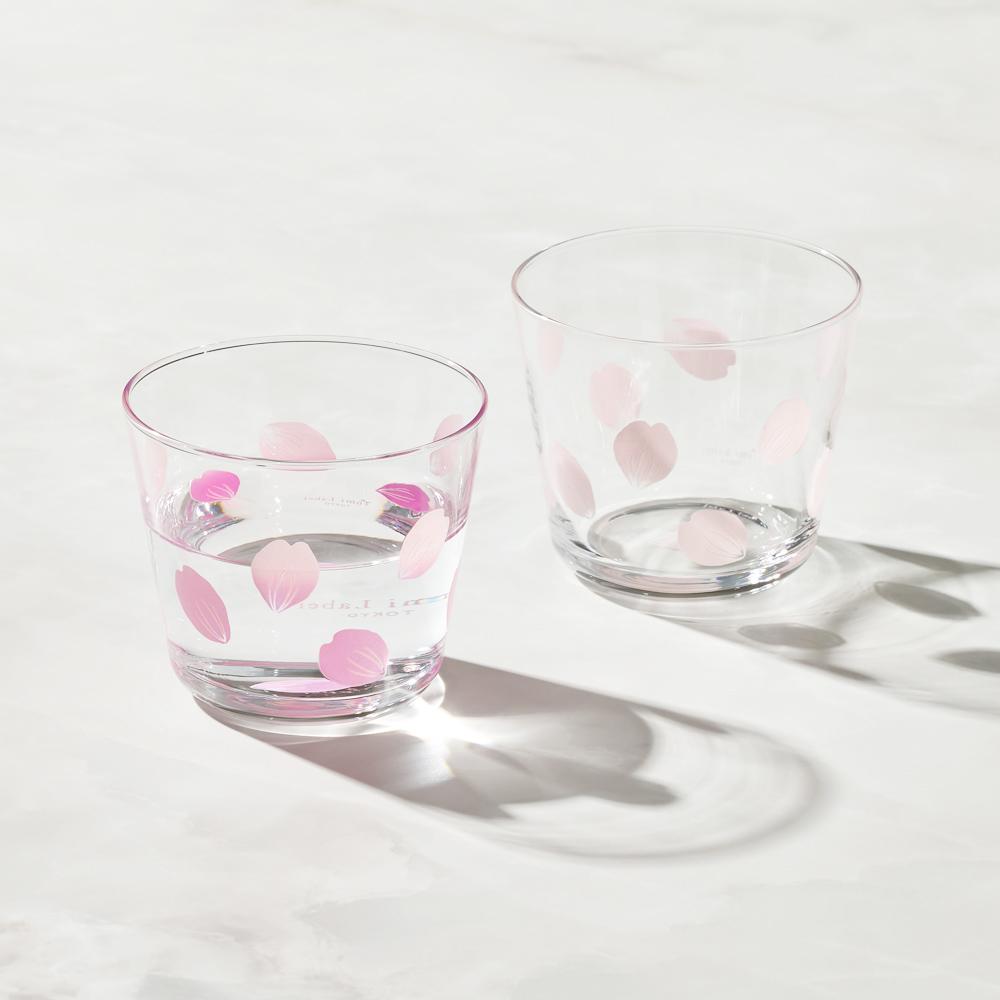 日本富硝子 變色自由杯 - 吉野櫻花雨 - 雙件組 (220ml)