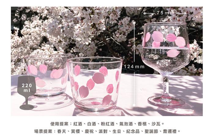 (複製)日本富硝子|變色自由杯 - 吉野櫻花雨 - 雙件組 (220ml)