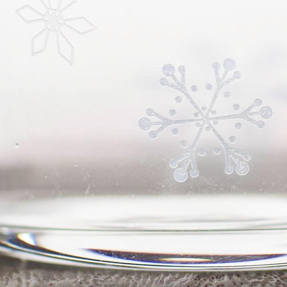 日本富硝子|變色寬口水杯 - 冬日雪花 (300ml)