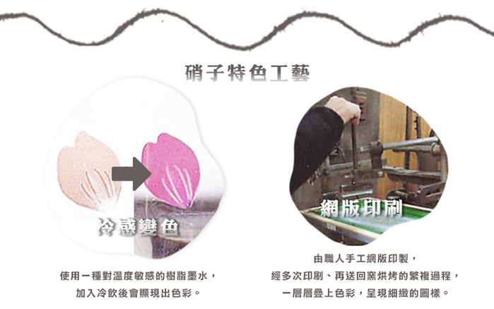 日本富硝子|變色寬口水杯 - 初春櫻花 (300ml)