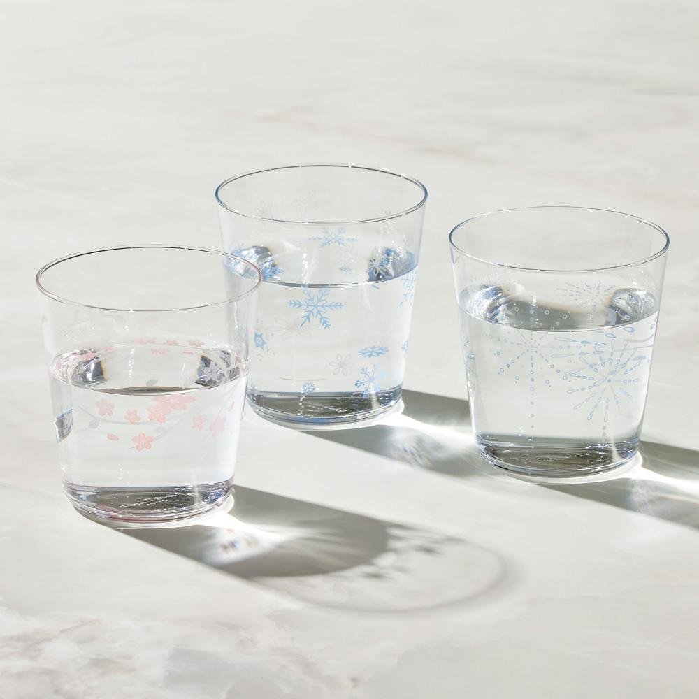 日本富硝子|變色寬口水杯 - 三件組 (300ml)