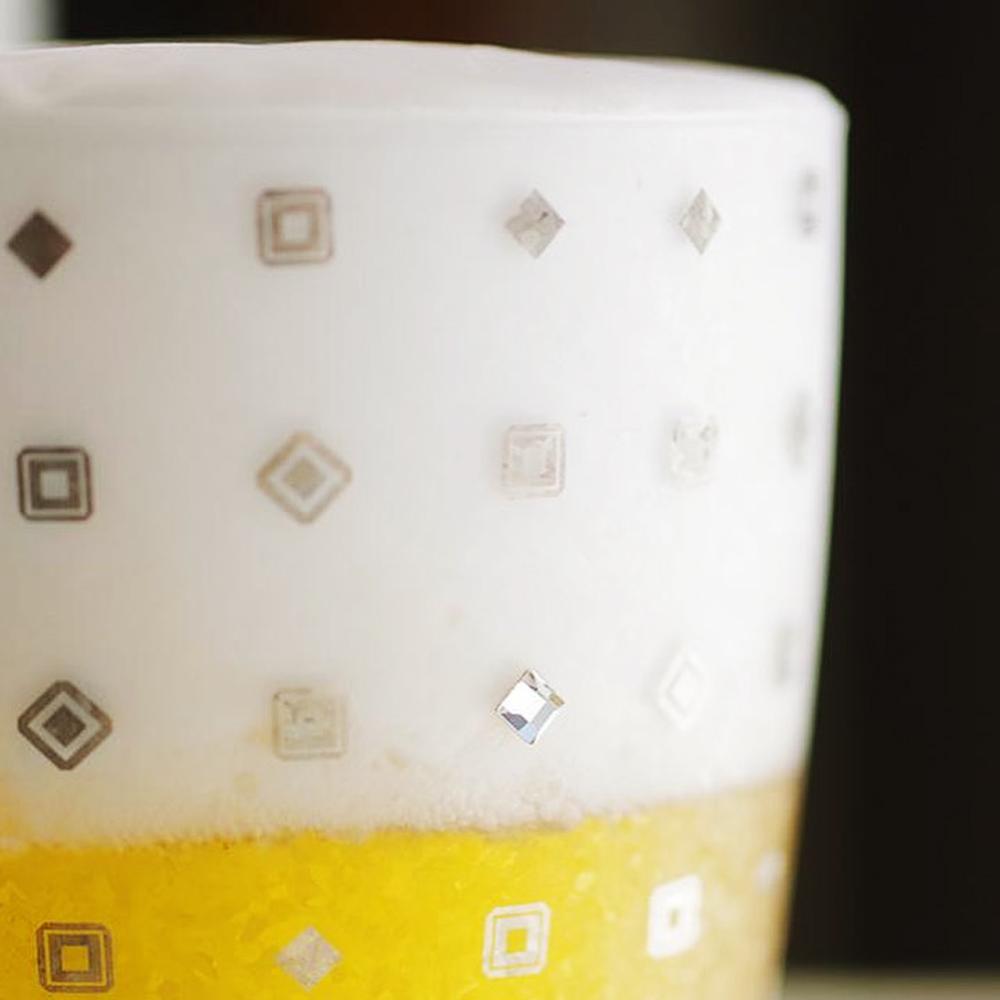 日本富硝子 水鑽霧面啤酒杯 - 威廉公爵 (415ml)