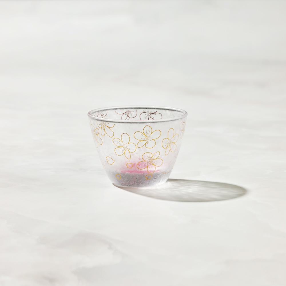 日本富硝子|私藏霧面小酌杯 - 渲染紅櫻 (90ml)