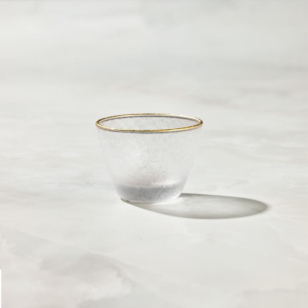 日本富硝子|私藏霧面小酌杯 - 麻葉紋 (90ml)