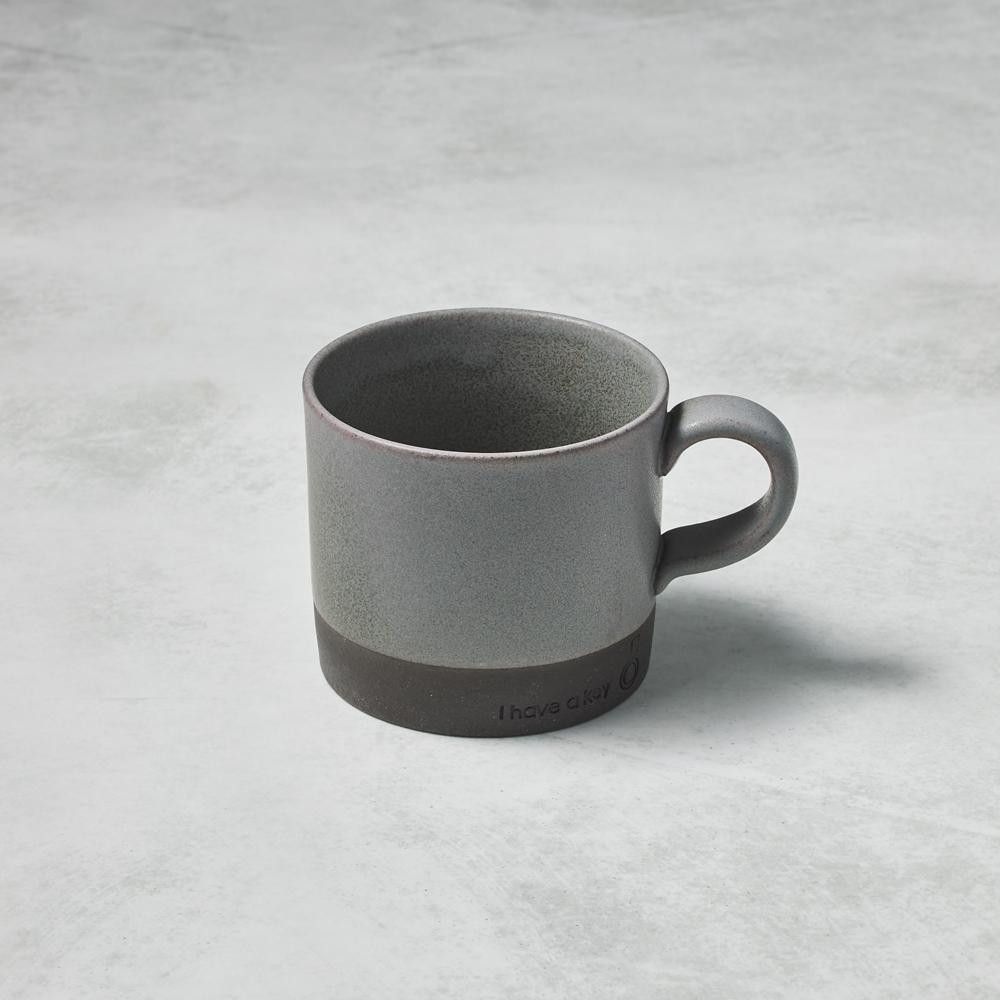 日本KOYO美濃燒|圓筒馬克杯 - 灰 (330ml)