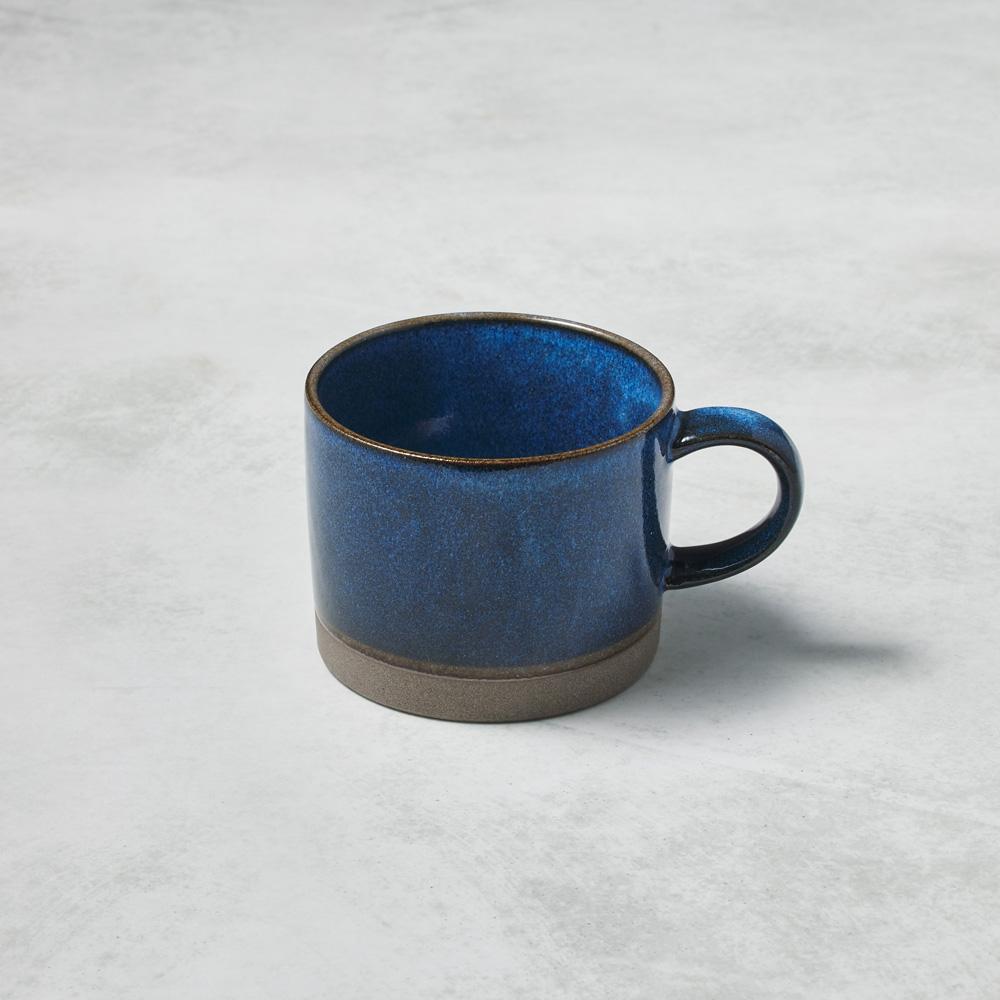 日本KOYO美濃燒|自然釉彩馬克杯 - 藍海 (290ml)