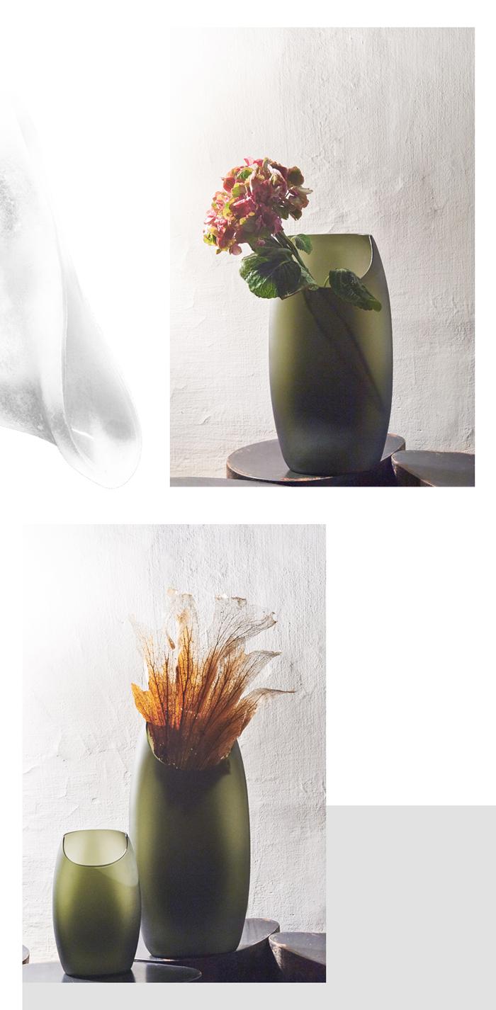 (複製)3,co|玻璃月型口扁平花器(9號) - 紅