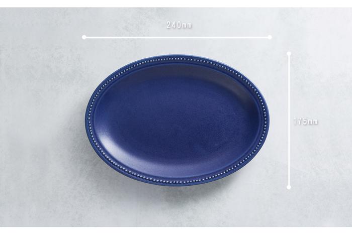 (複製)日本KOYO美濃燒 - 珍珠邊橢圓淺盤 - 灰紫