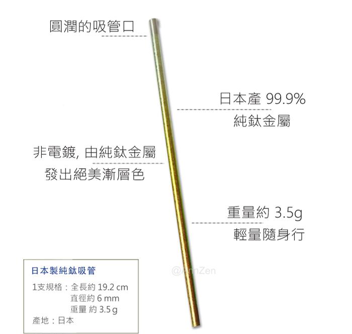 (複製)日本HORIE 鈦愛地球-純鈦ECO環保吸管-禾穗黃