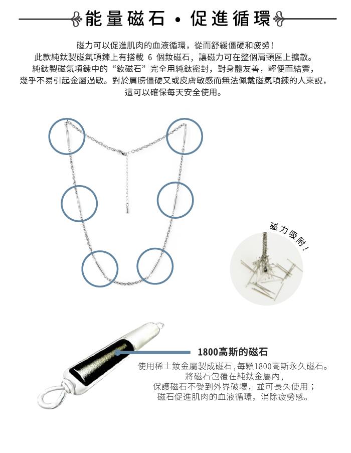 日本HORIE 純鈦磁石項鍊-無窮迴圈
