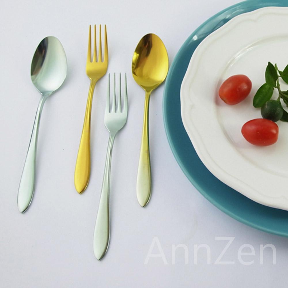 日本HORIE 鈦愛地球系列-日本製 純鈦抗菌ECO環保 餐叉-鈦銀色