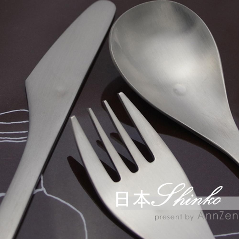 日本Shinko|日本製  設計師系列 微笑酒窩- 主餐叉