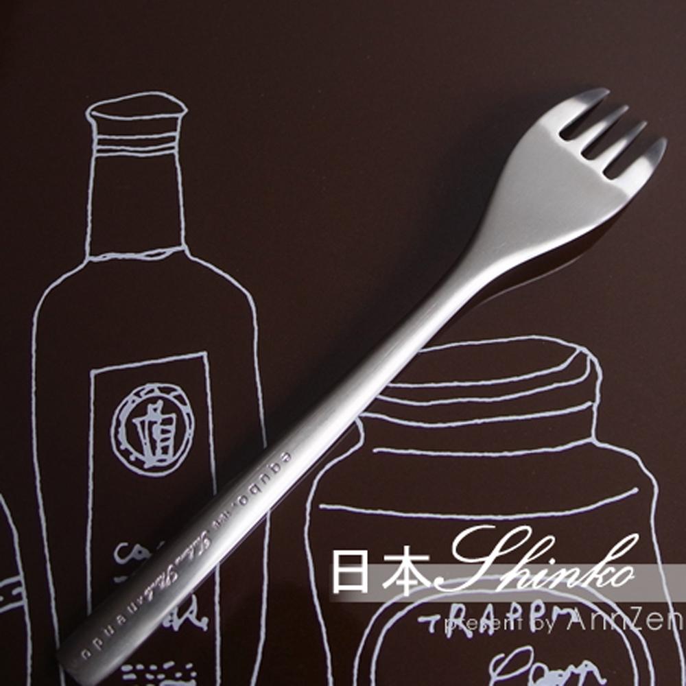 日本Shinko 日本製  設計師系列 微笑酒窩- 小餐叉