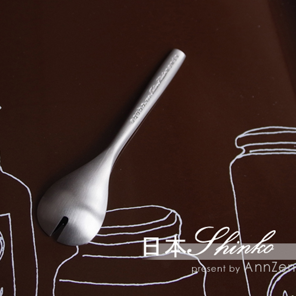 日本Shinko 日本製 設計師系列 微笑酒窩- 點心匙