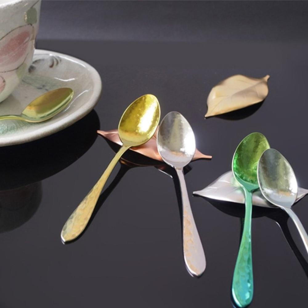 日本HORIE 鈦愛生活系列-日本製 純鈦抗菌鎚起咖啡匙5件組