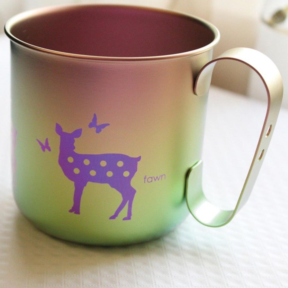日本HORIE|鈦愛地球系列-日本製 純鈦抗菌ECO環保設計馬克杯-悠然仔鹿