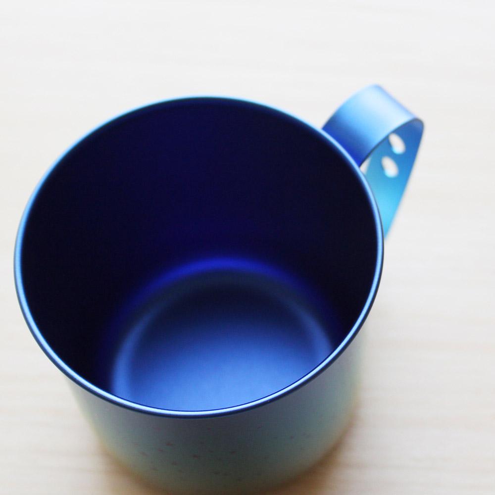 日本HORIE|鈦愛地球系列-日本製 純鈦抗菌ECO環保設計馬克杯-霜降藍