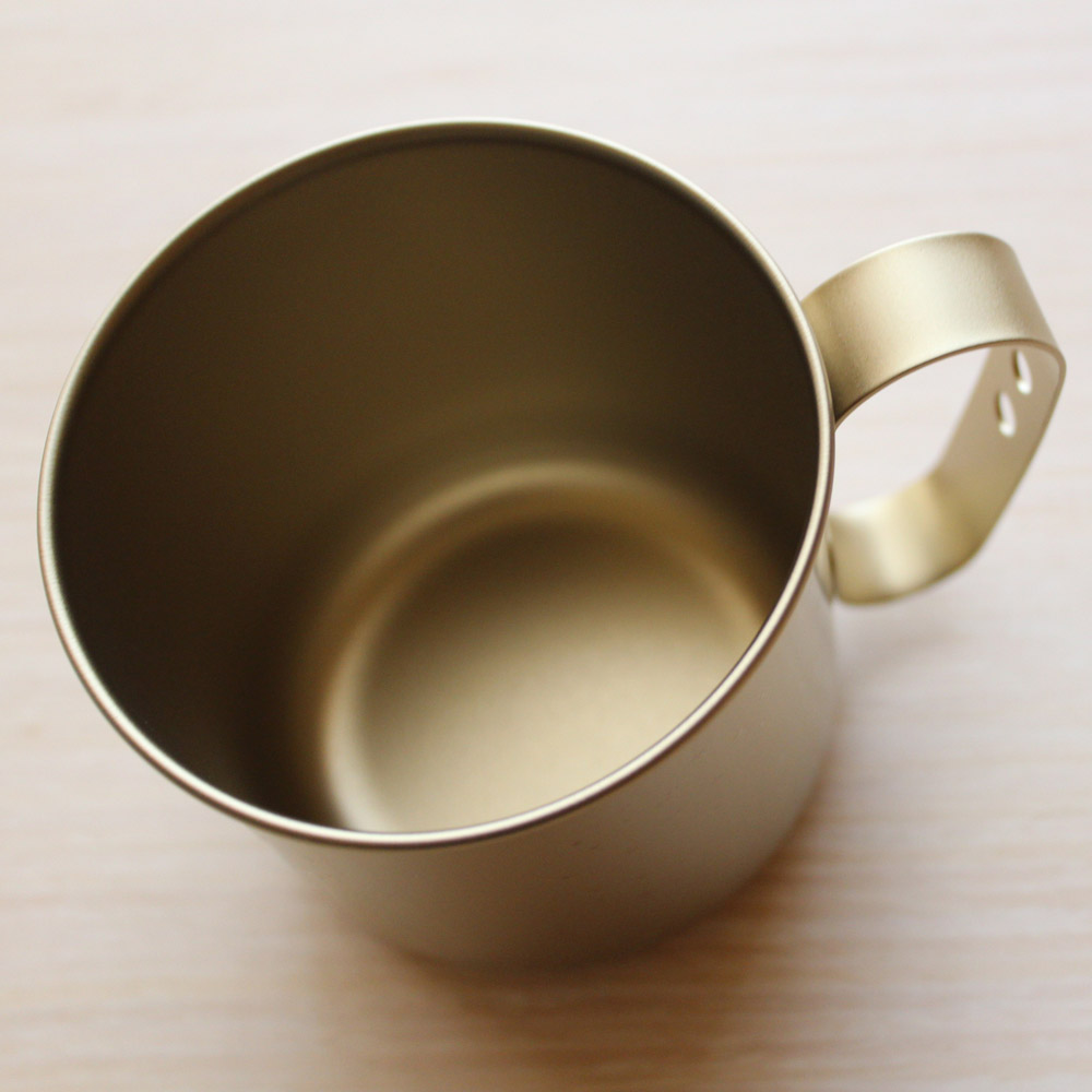 日本HORIE|鈦愛地球系列-日本製 純鈦抗菌ECO環保設計馬克杯-黃金星