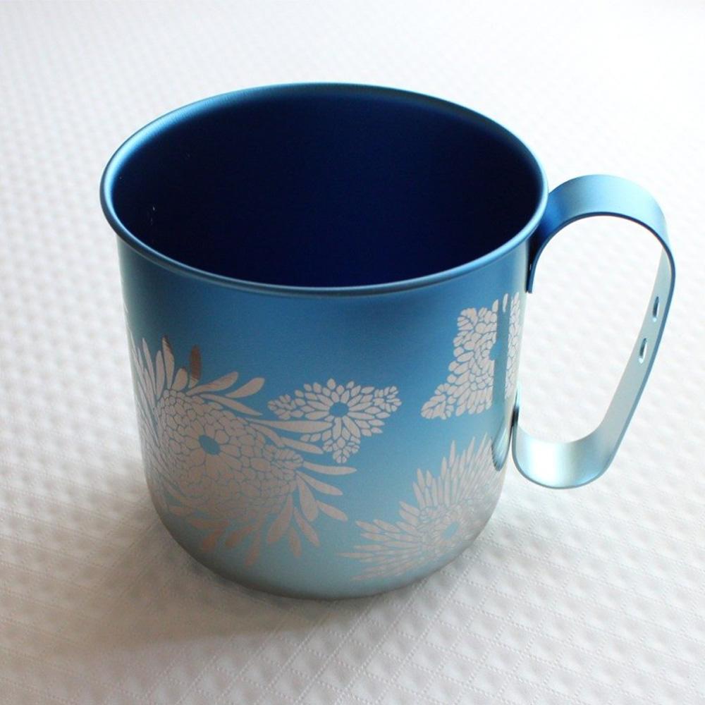 日本HORIE 鈦愛地球系列-日本製 純鈦抗菌ECO環保設計馬克杯-燦藍菊