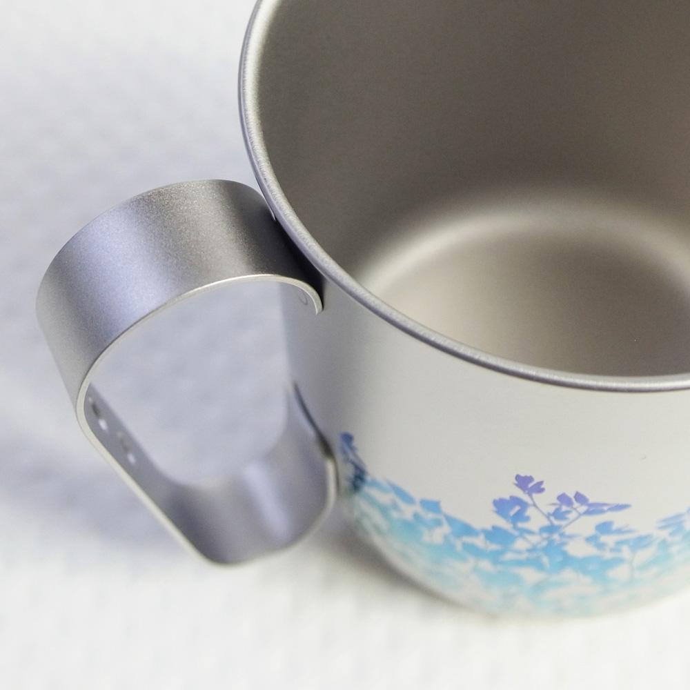 日本HORIE|鈦愛地球系列-日本製 純鈦抗菌ECO環保設計馬克杯-藍葉藤