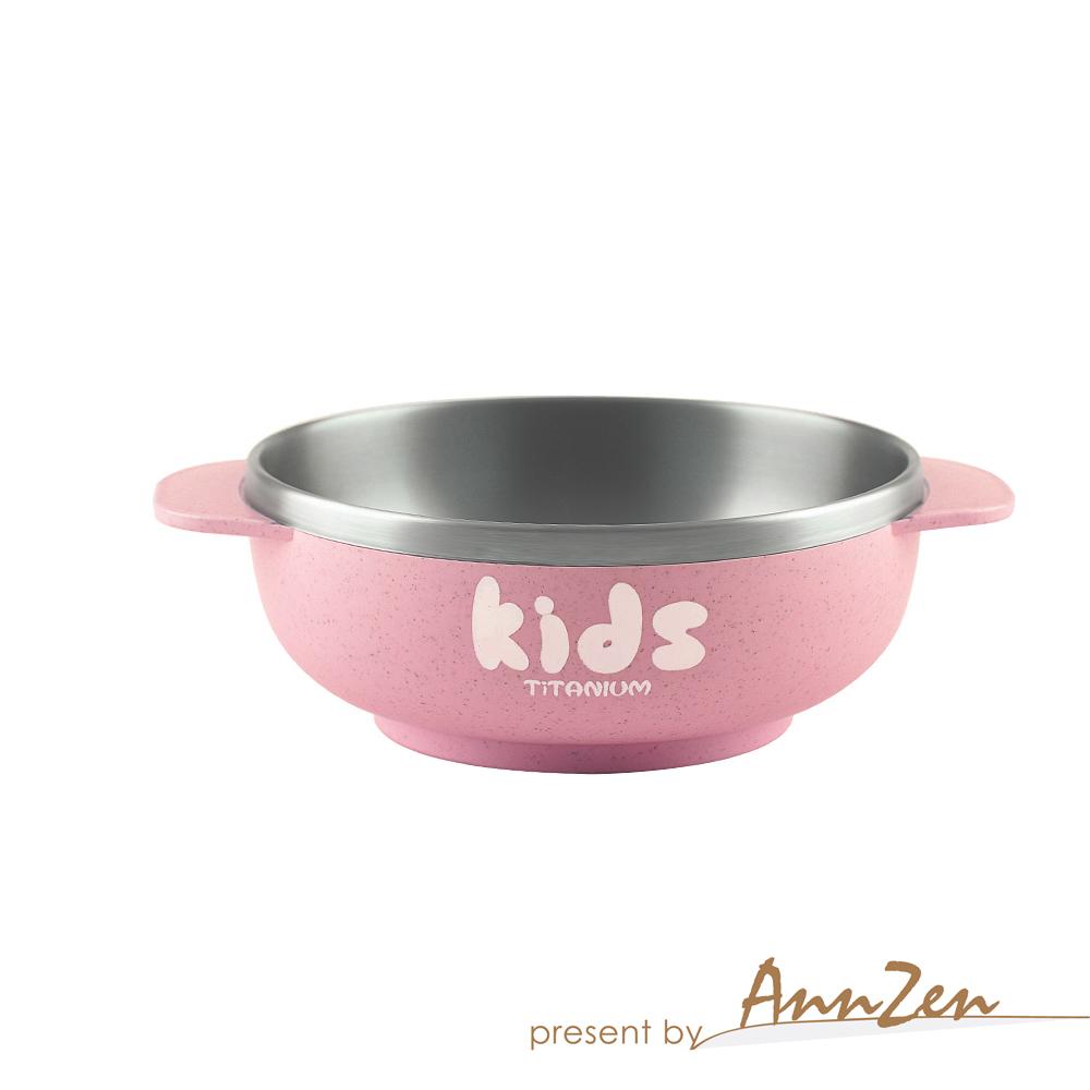 Ti-living|純鈦抗菌兒童-密封湯/飯碗 330ml(三色可選)