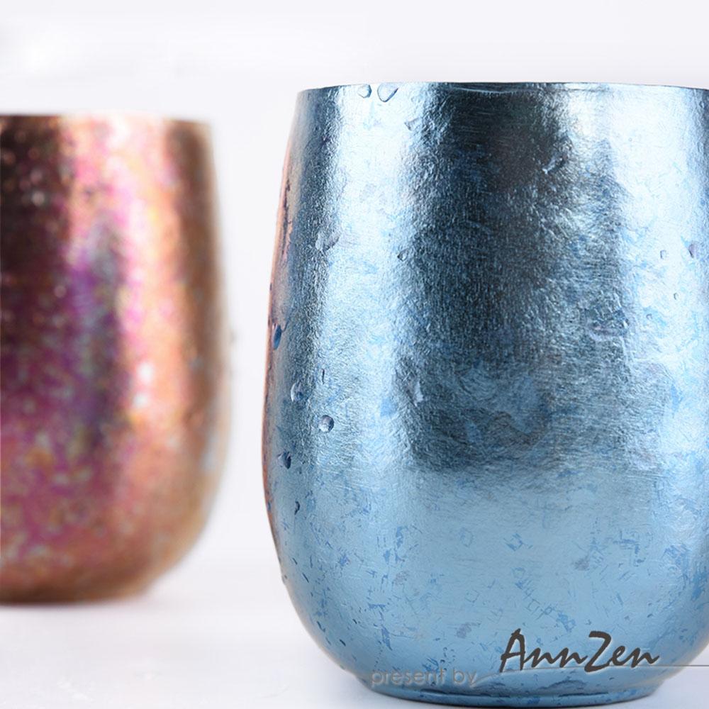 Ti-living 純鈦抗菌雙層杯-冰川藍
