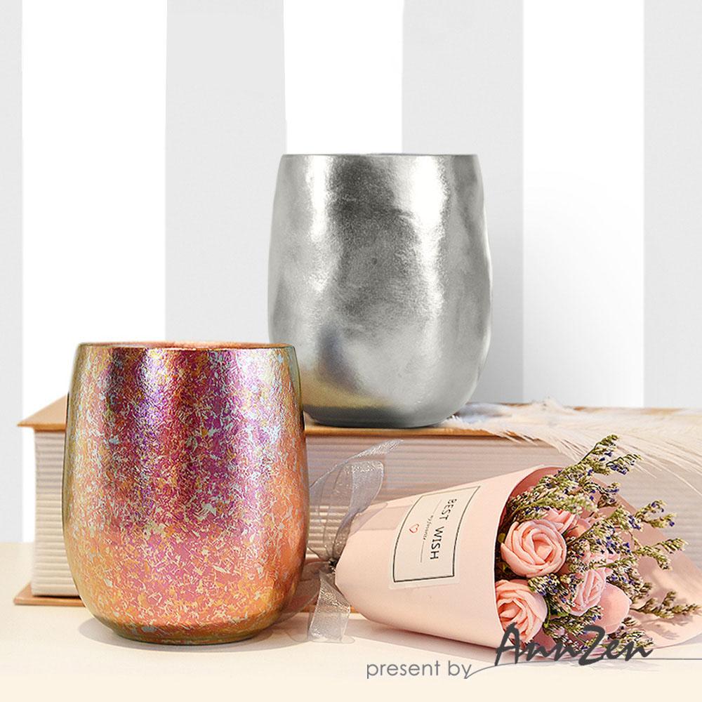 Ti-living 純鈦抗菌雙層杯-沁雪銀