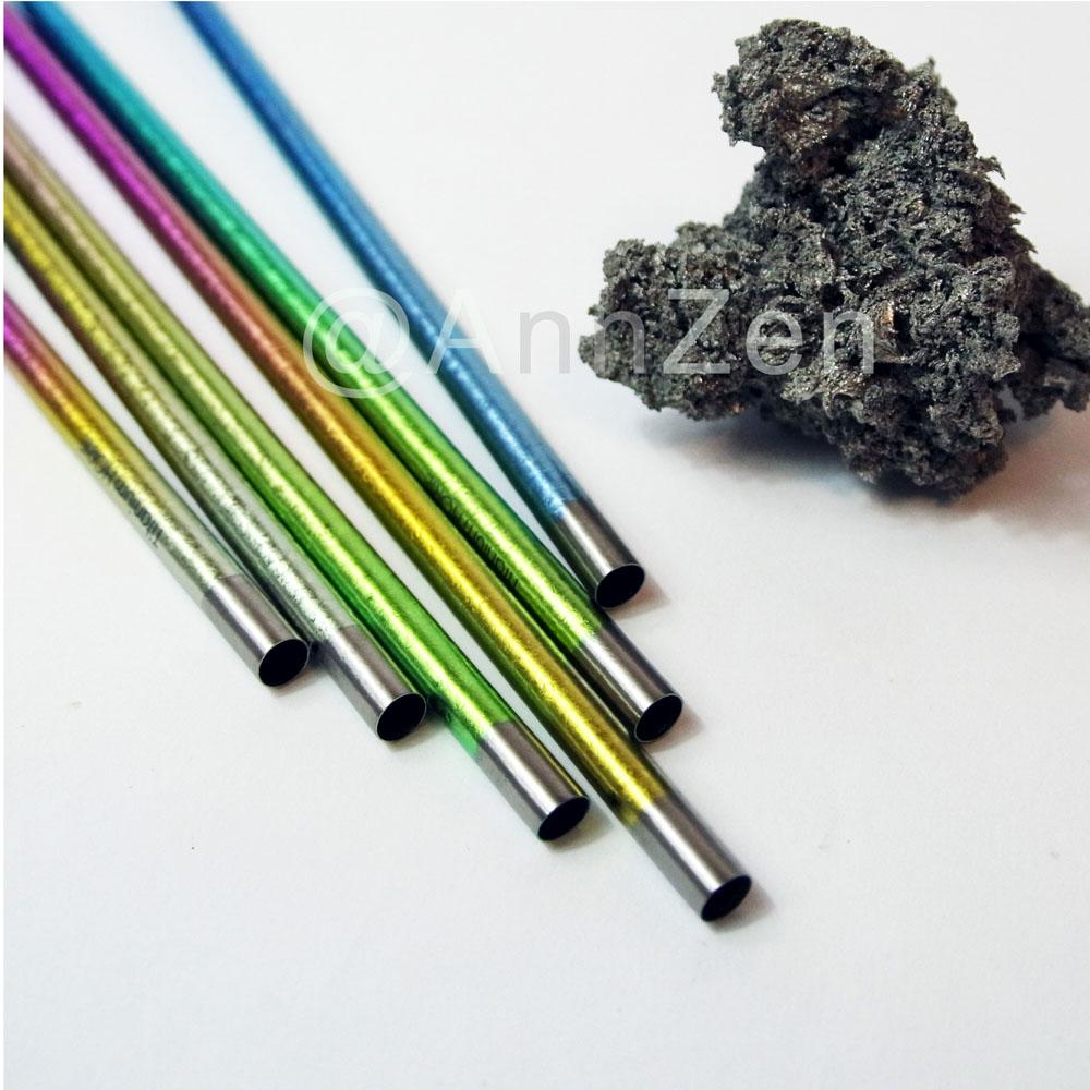 日本HORIE|鈦愛地球-純鈦抗菌ECO環保吸管-璀璨虹+原木柄吸管刷