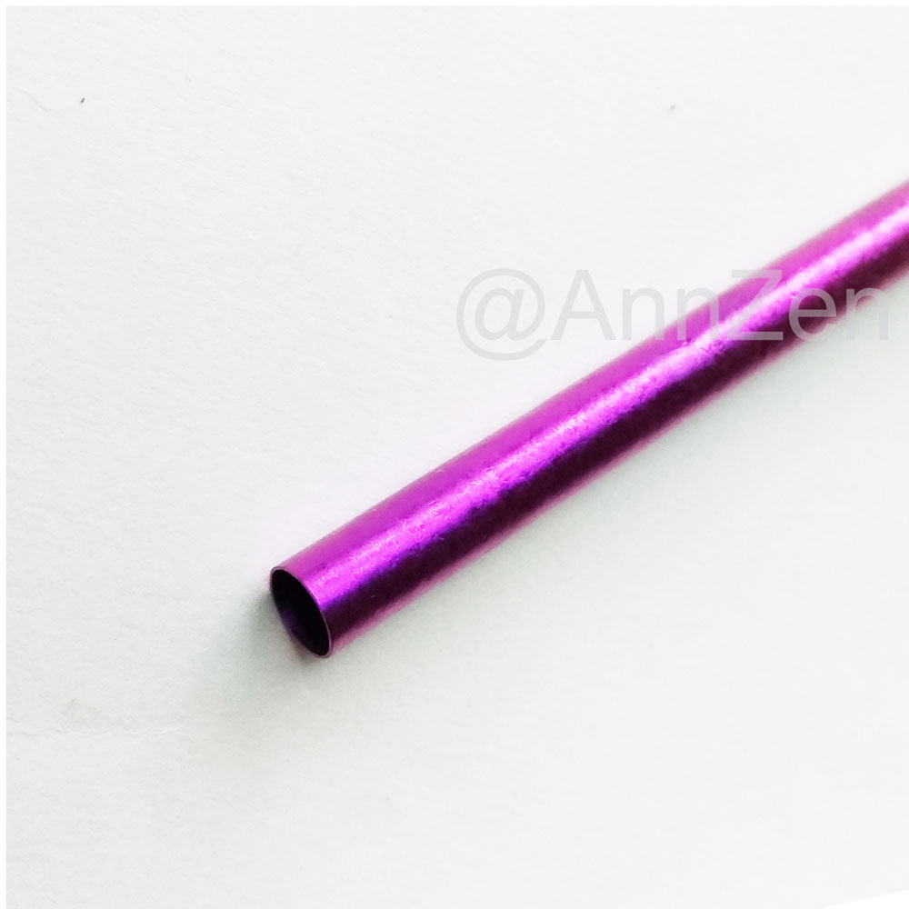 日本HORIE 鈦愛地球-純鈦抗菌ECO環保吸管-羅蘭紫+原木柄吸管刷