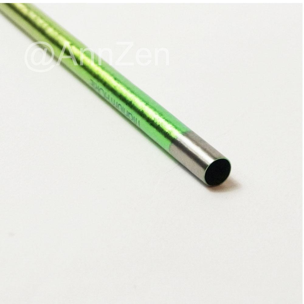 日本HORIE|鈦愛地球-純鈦抗菌ECO環保吸管-翡翠綠+原木柄吸管刷