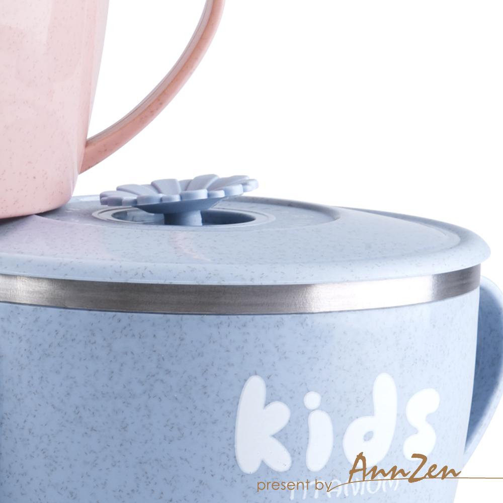 Ti-living 純鈦抗菌兒童-密封雙手柄碗 (大) 450ml (二色可選)