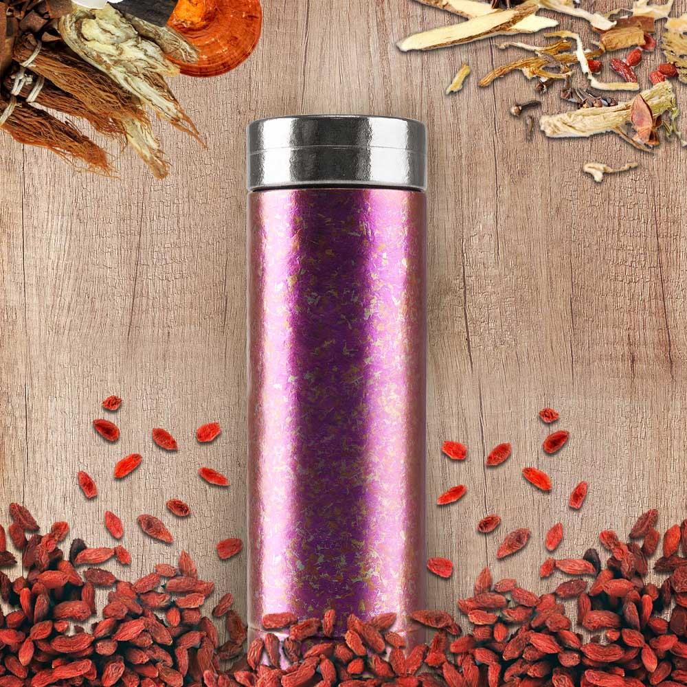 Ti-living|純鈦真空保溫-養身輕巧杯-珊瑚粉 300ml