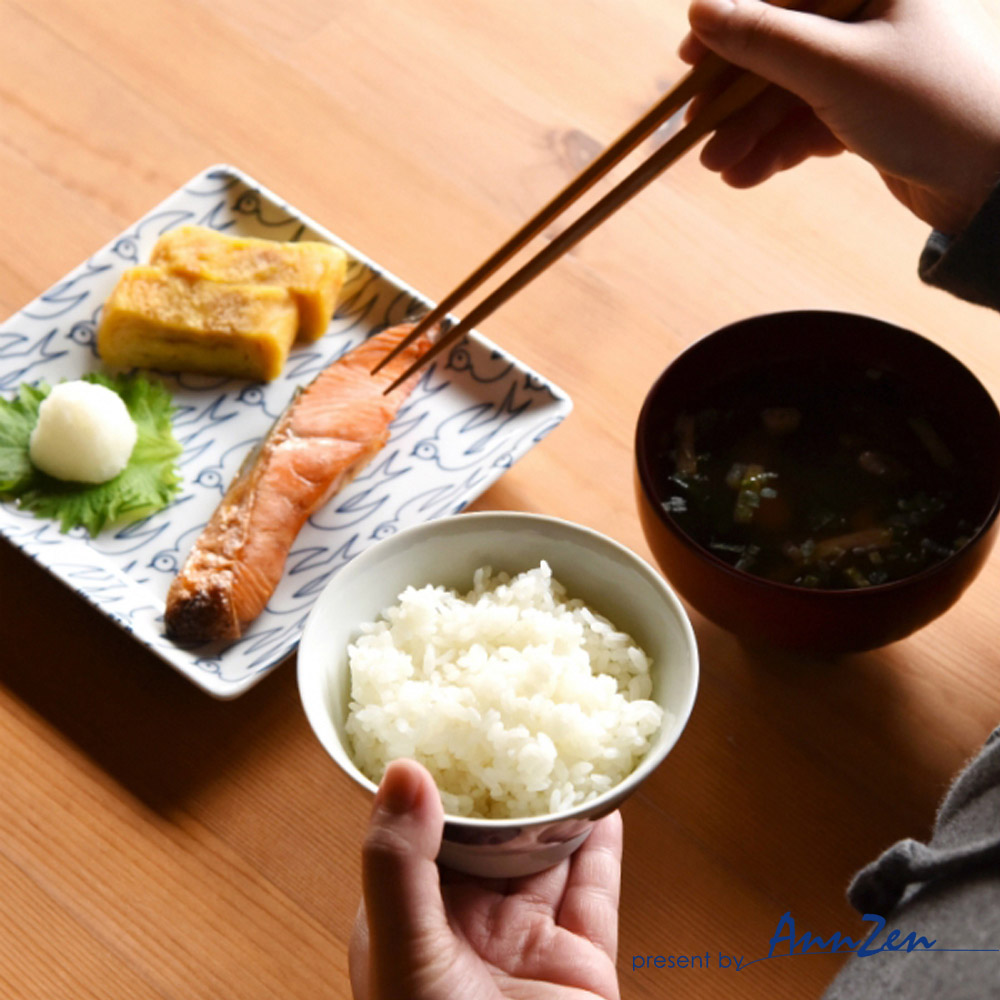natural 69 日本波佐見燒 日式飯碗-木紋